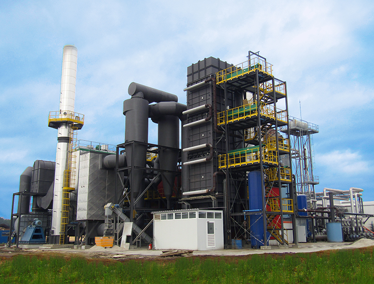 Caldera de biomasa de aceite térmico