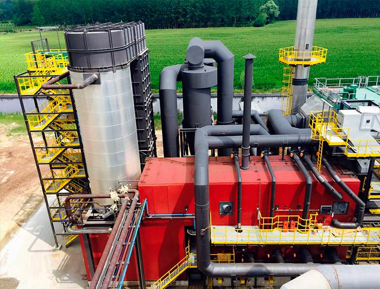 Caldera de biomasa de aceite térmico - Sugimat