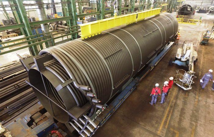 Serpentín fabricado por Sugimat para una caldera insdustrial