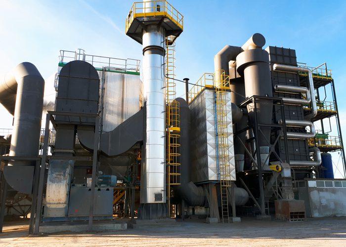 Instalación aceite térmico biomasa de 12MW_Sugimat
